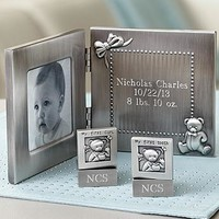 Personalized New Baby Frame Tooth & Curl Set | 1800Flowers.com-89989