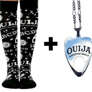 Ouija Socks + Necklace