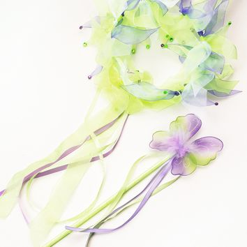 Little Adventures Green Fairy Halo & Wand