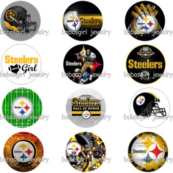 football Pittsburgh Steelers glass  Perfume Aroma Locket           photo    GS9402    phone holder