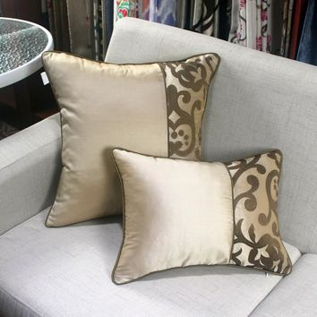 Luxury home decorative silk embroidery pillow cover cases for living room