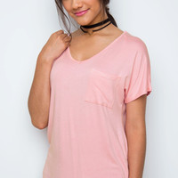 Nina Basic Top - Blush