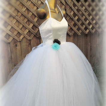 Wedding gown, adult tutu dress, White wedding dress, bridal wedding gown, wedding dress, tutu wedding dress, corset wedding dress,