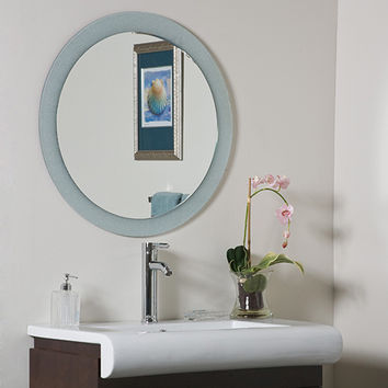 Decor Wonderland SSM5005-2 Zoe Round Beveled Wall Mirror