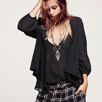 Free People Womens Sparks Fly Jacket - Washed