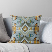 'A woman and a machine ' Throw Pillow by Linandara