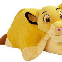 "Pillow Pets Authentic Disney 18"" Simba, Folding Plush Pillow- Large"