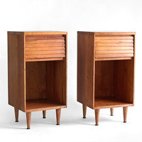 Mid Century Wood Side Tables  Mid Century Modern Retro by Hindsvik