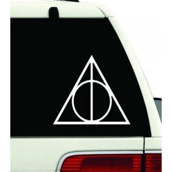 Harry Potter Vinyl Car Window Decal Deathly Hallows Symbol Sticker Magic hogwarts