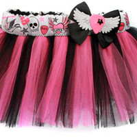 Pink & Black Punk Tattoo Tutu