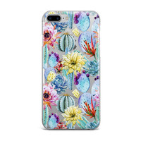 Cactus and Flowers Custom iPhone Case