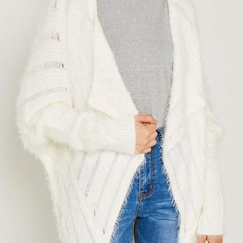 Kixters - Snow Ribbed Long Bolero Knit Sweater