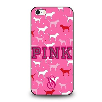 PINK DOG VICTORIA'S SECRET iPhone SE Case Cover