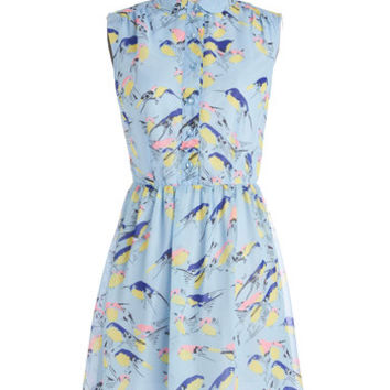 Mid-length Sleeveless A-line Wingin' It Dress