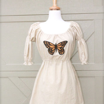 Women's Butterfly Tunic, Monarch Butterfly Top xs s m l xl xxl 2x 3x