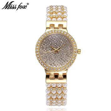 Miss Fox Watch women luxury watch Reloj Mujer Stainless Steel Diamond Ladies Quartz Watch Women Rhinestone Watches hodinky saat