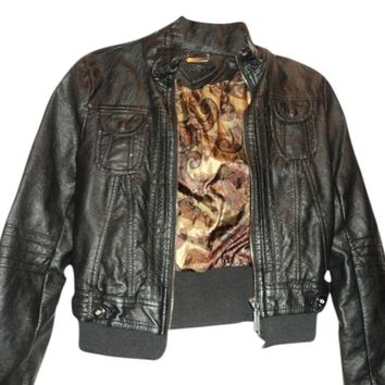 Jou Jou Rn#114542 Leather Jacket 69% off retail
