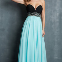Strapless Sweetheart Night Moves Floor Length Dress