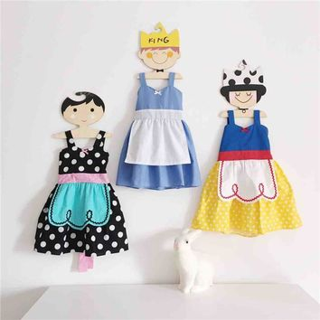 Kawaii summer toddler girls snow white dress, Alice in wonderland dress up princess APRON dress baby cosplay costume vestido