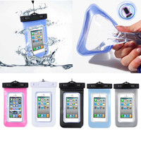 Waterproof Swim Diving Case For Apple iphone 5S SE 6 6S 6PLUS Clear Front & Back Cover Accessories Pouch Cover 17.5*10cm WHD723