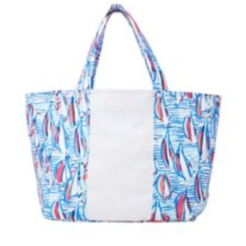 Beach Tote Bag - Red Right Return - Lilly Pulitzer
