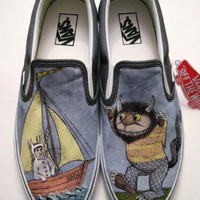 Where the Wild Things Are Custom Vans Shoes