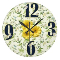 Denim/Daisy ACRYLIC WALL CLOCK