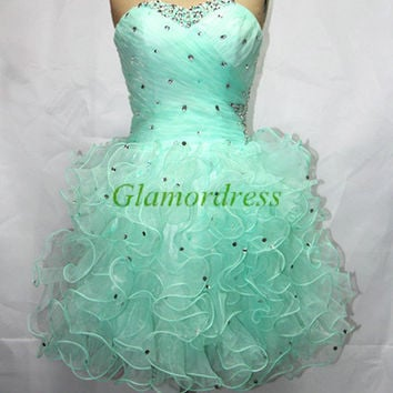 short sweetheart homecoming dresses organza cocktail gowns stunning sequin prom dress unique latest dress for party
