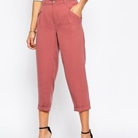 ASOS Drape Woven Textured Peg Trousers
