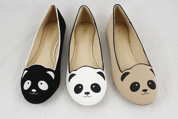 Panda Shoes Slip On Ballet Flats With From The Fashion Cute