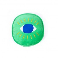 Round Eye Cushion - Green