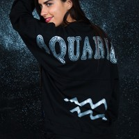 Aquarius - Astrology Collection - Light Weight Spirit Jersey® with Ribbed Hem