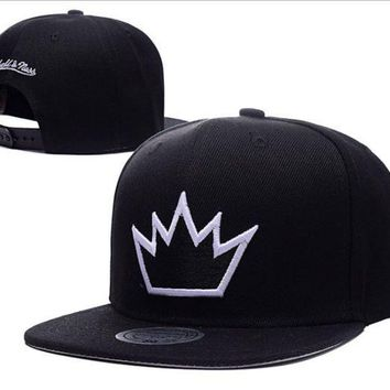 PEAPDQ7 Black King Crown Embroidered Outdoor Baseball Cap Hats