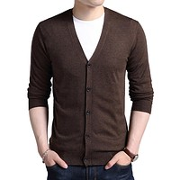 Men's Casual V-Neck Cardigan