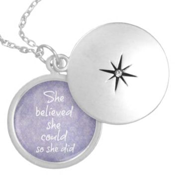 She Believed she Could so She Did Quote Custom Jewelry
