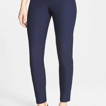 Petite Women's Eileen Fisher Stretch Crepe Ankle Pants (Online Only)