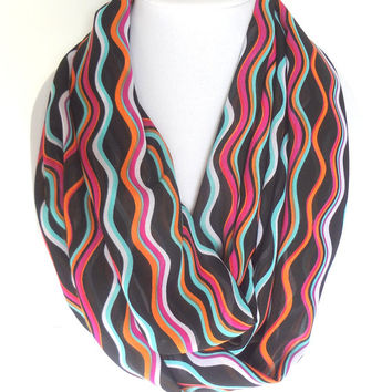 Colorful Scarf, Rainbow Scarf, Funky Scarf, Multicolor Scarf