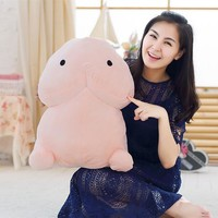 Urijk Creative Plush Penis Dick Toys Soft Stuffed Funny Plush Simulation Penis Dolls Gift for Girlfriend Genitals Pillow Cushion