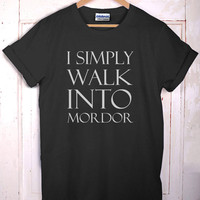 Simply Walk Into Mordor Lotr Lord Of The Rings T-Shirt