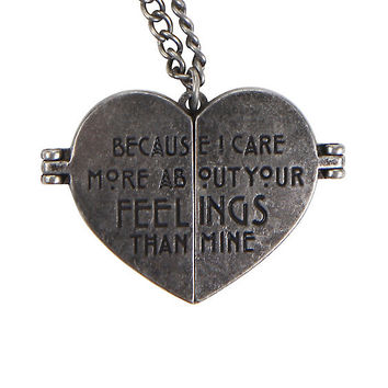 American Horror Story Tate Heart Locket Necklace
