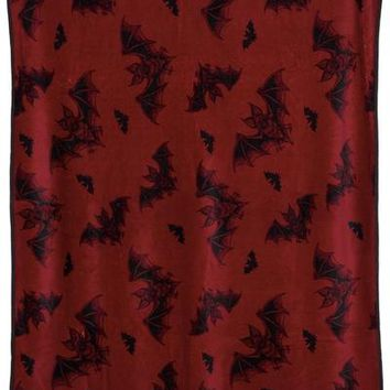 """Batt Attack"" Blanket by Sourpuss (Maroon)"
