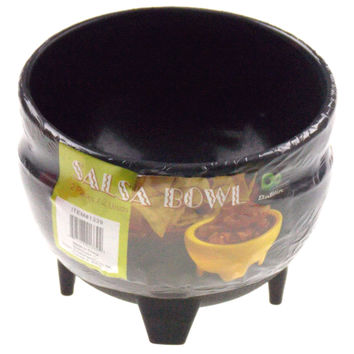 Black Mexican Salsa Bowls Set 6 Chips Guacamole Serving Dish Salceros Molcajete