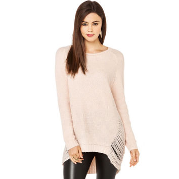 Distressed Hollow Sweater