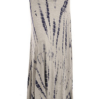 Strike It Grey Bamboo Tie-Dye Maxi Skirt