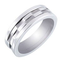 Men's Stainless Steel Spinner Ring, Size 9