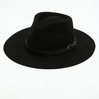 Black Belt Buckle Floppy Hat