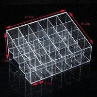 Acrylic Clear Cosmetic Make Up Case Lipstick Liner Brush Holder Organizer Drawer NO.9