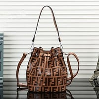 Fendi Women Shopping Bag Leather Satchel Crossbody Handbag Shoulder Bag