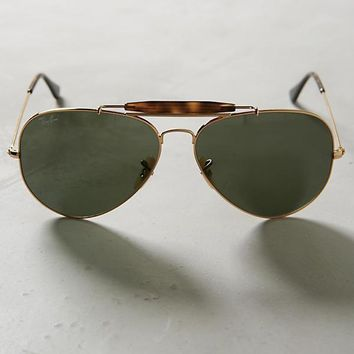 NWT Ray-Ban ANTHROPOLOGIE Aviator Outdoorsman Sunglasses