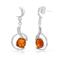 Bling Jewelry Fancy Amber Earrings